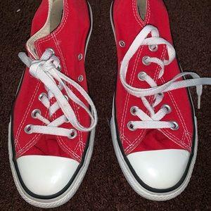 MAKE AN OFFER * Red Converse Size 7Womens